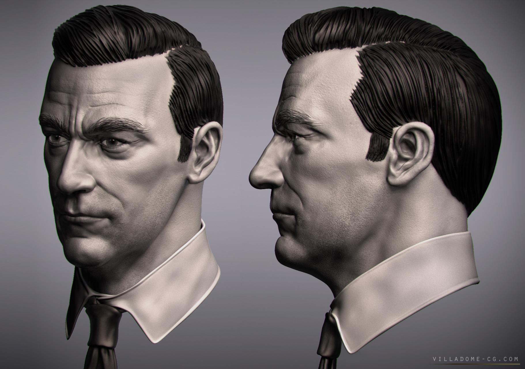 Mad Men Miniature Commission Work Polycount