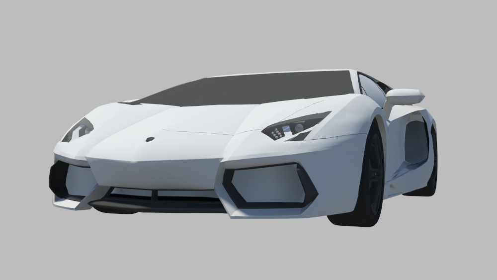Wip Lamborghini Aventador Critiques Please Polycount