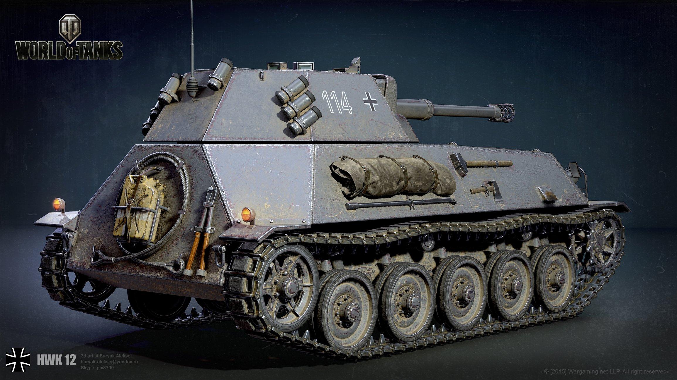 3d art showcase & critiques   reconstruction of the tank hwk 12