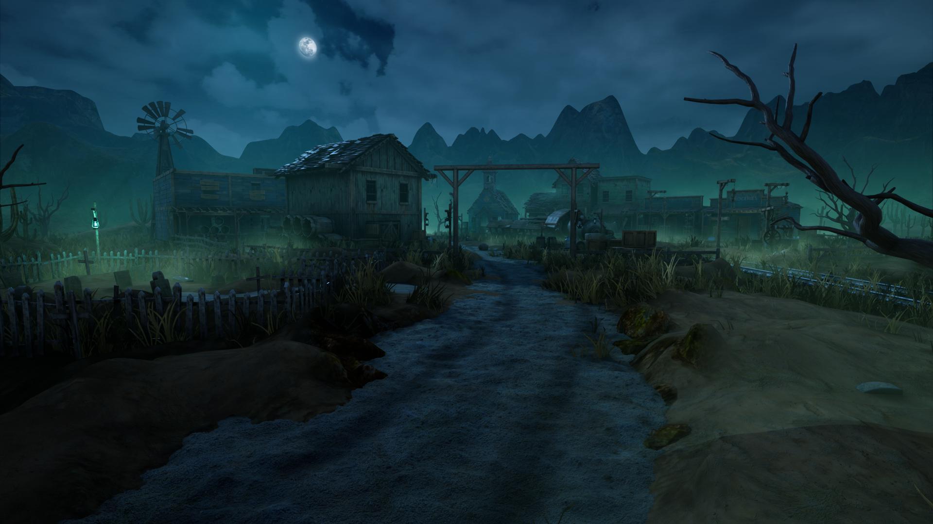 Finished] Ghost Town Fogmourn - Artstation Wild West Challenge [UE4