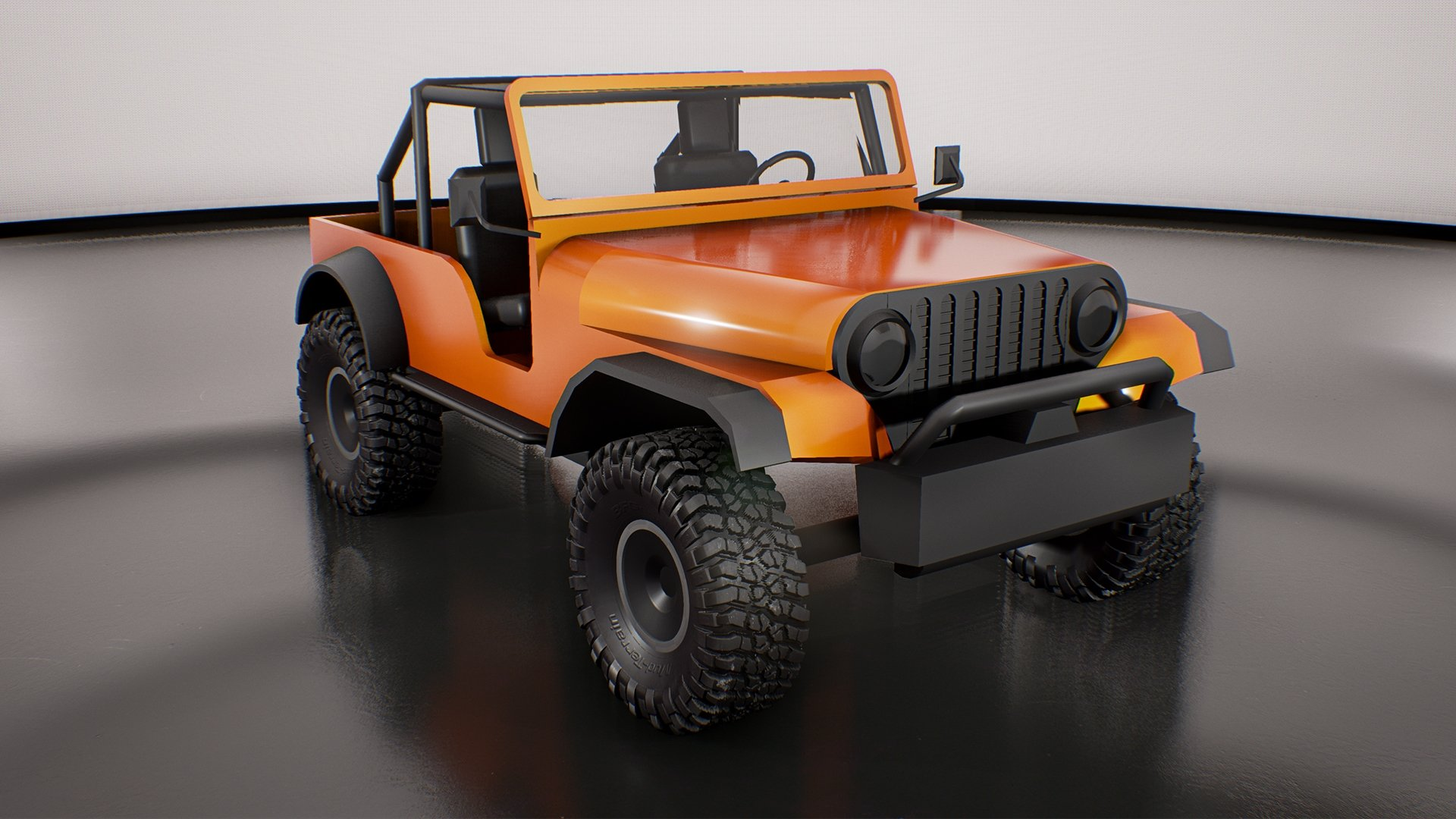 Jeep Cj66 Unreal Engine 4 Custom Normals Substance