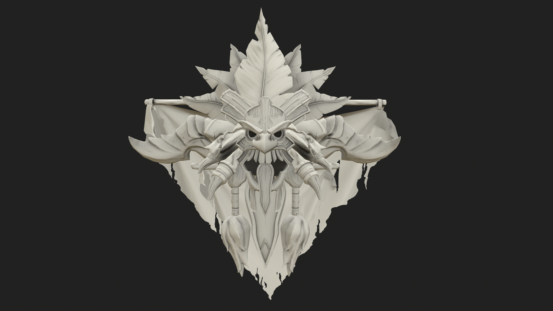 witch doctor crest 3d tutorial