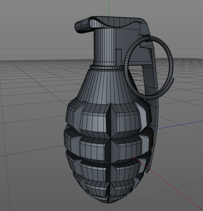 Solved) Help with model [Mk2 Grenade] — polycount