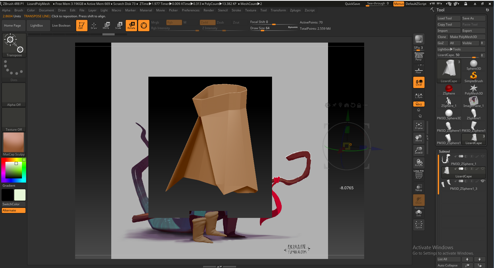 Zbrush - Importing files from Maya — polycount