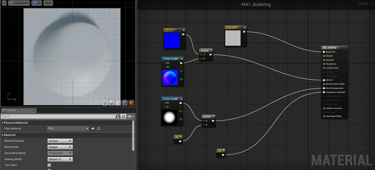 UE4 - Wonky results from multiplying world displacement