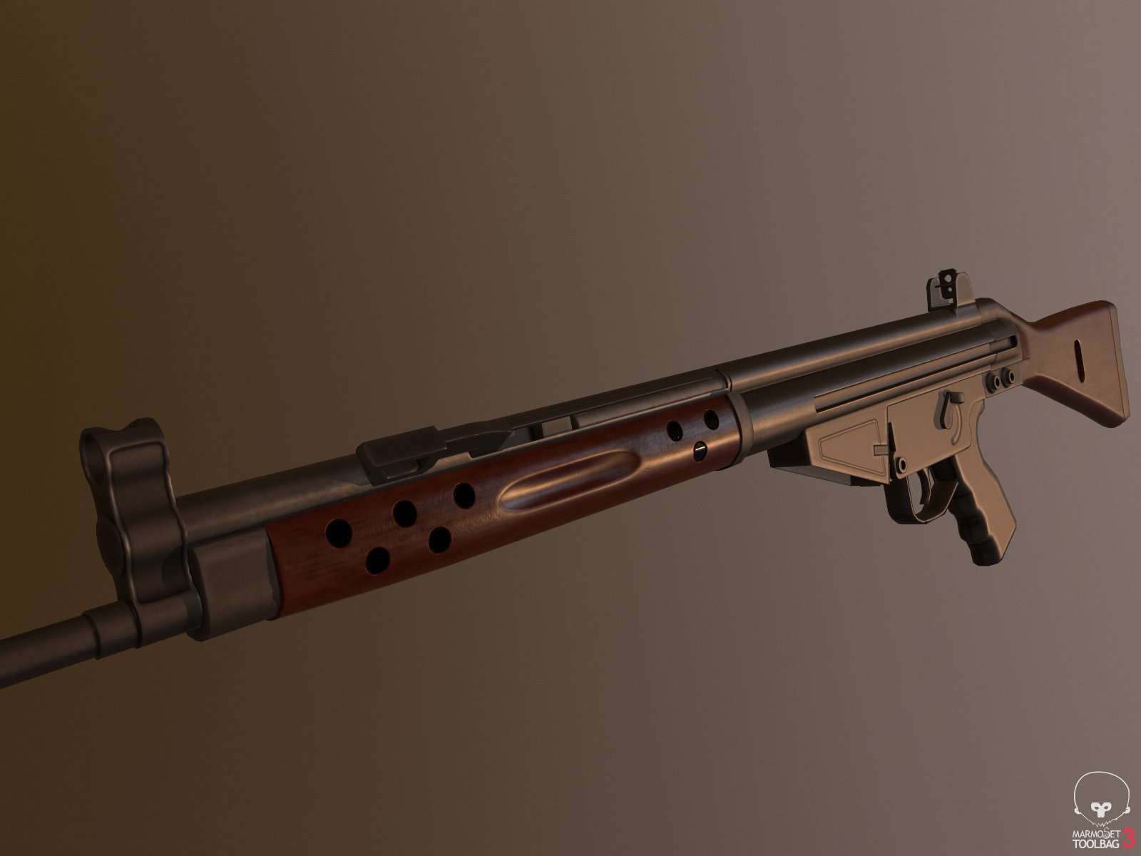 CETME C Battle Rifle (Texturing advice wanted) — polycount