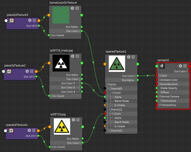 Maya - Assign color to alpha space — polycount