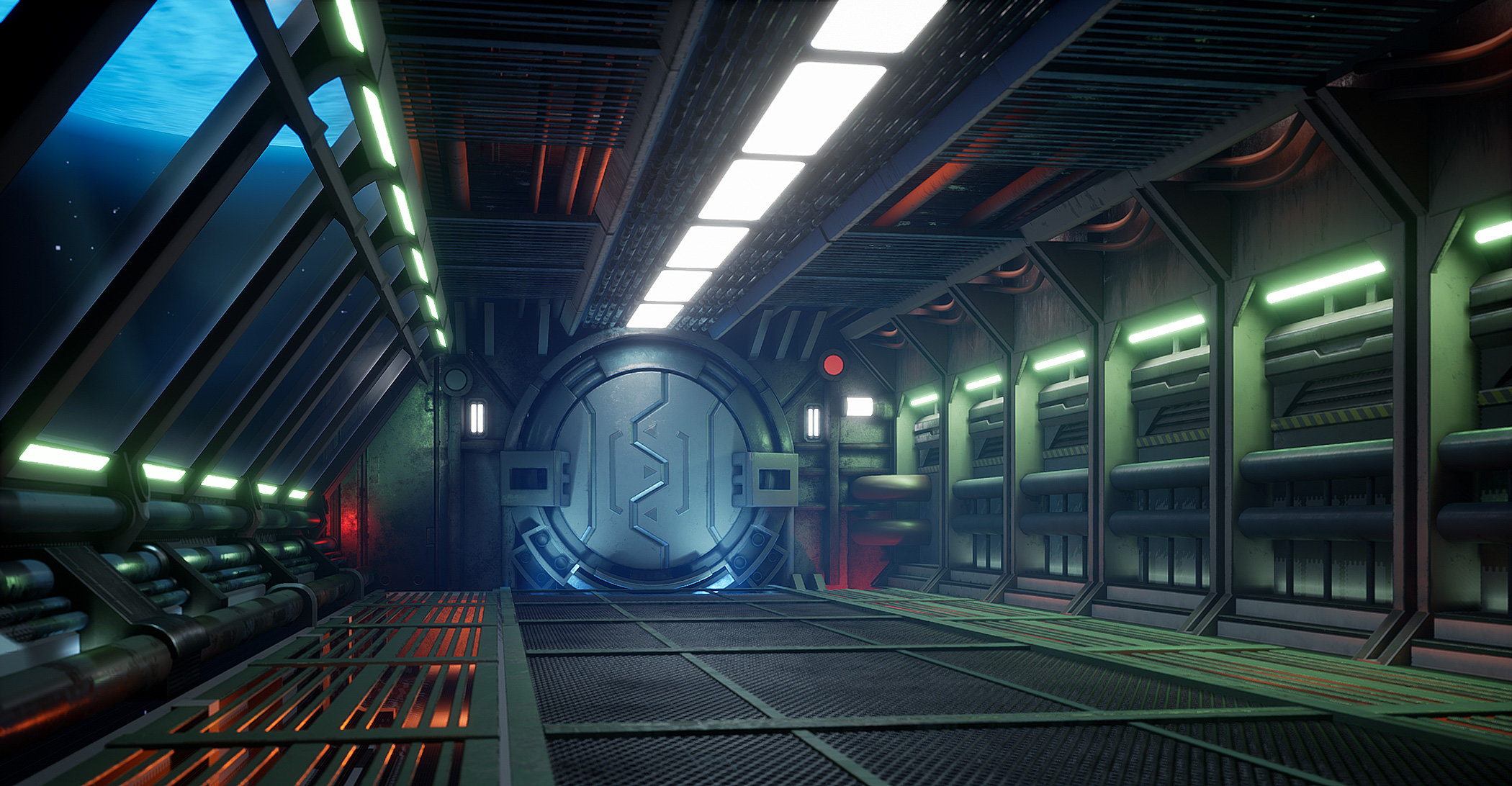 Finished] Sector 1 - a sci-fi passage in UE4 — polycount