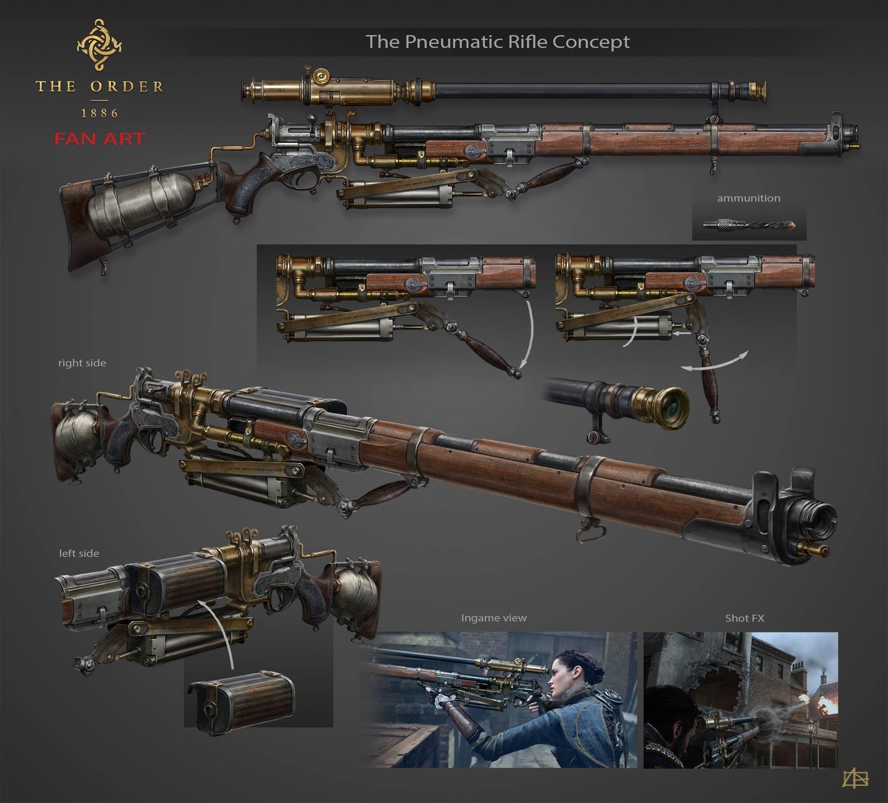 The Order 1886 Fanart - Pneumatic Rifle (looking for