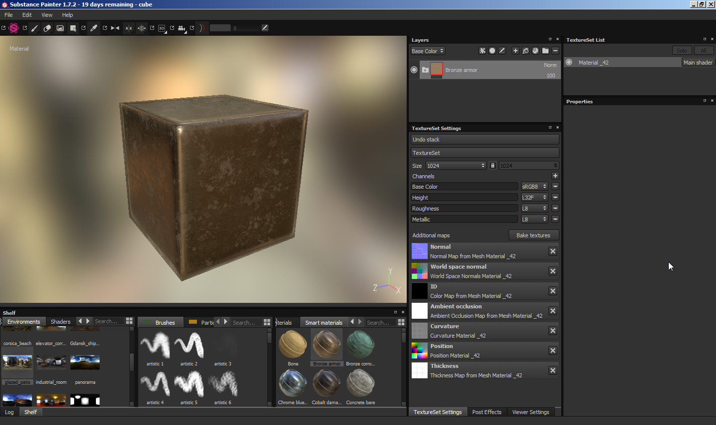 3ds Max - Substance Painter - Marmoset Toolbag normal map on