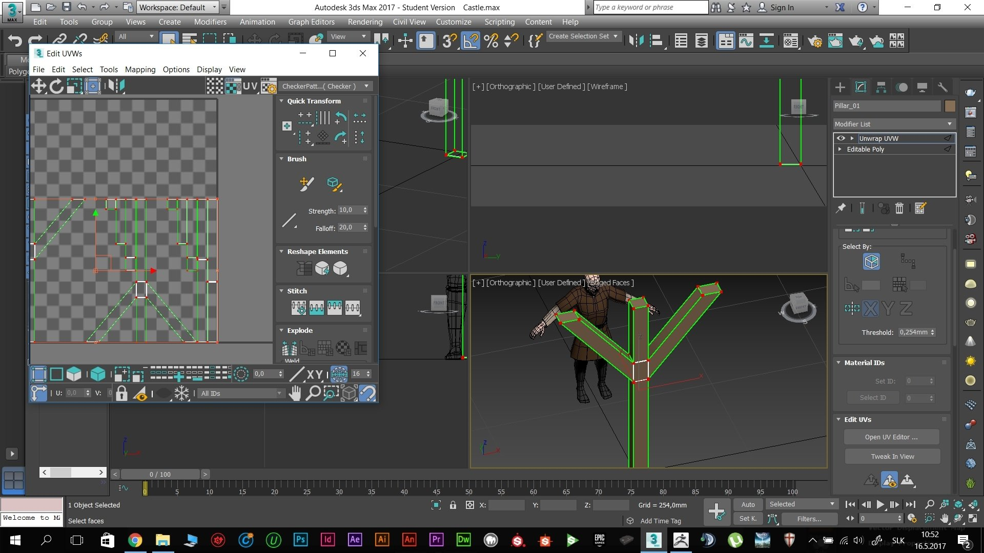 3DS max, Zbrush and Substance painter 2 — polycount