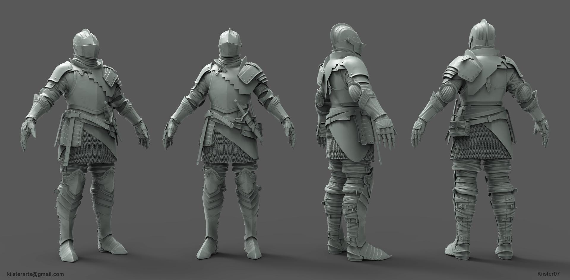3d Blueprint Software Dark Souls Drifter Knight Polycount