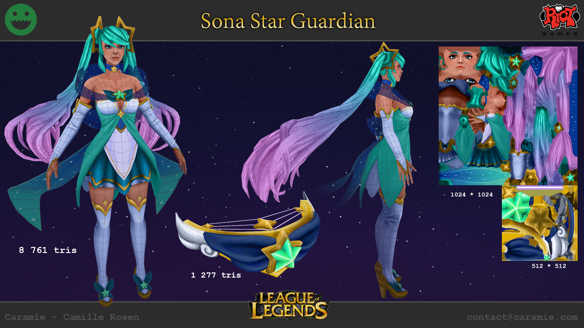 RIOT CREATIVE CONTEST 2017] Star Guardian - Sona — polycount