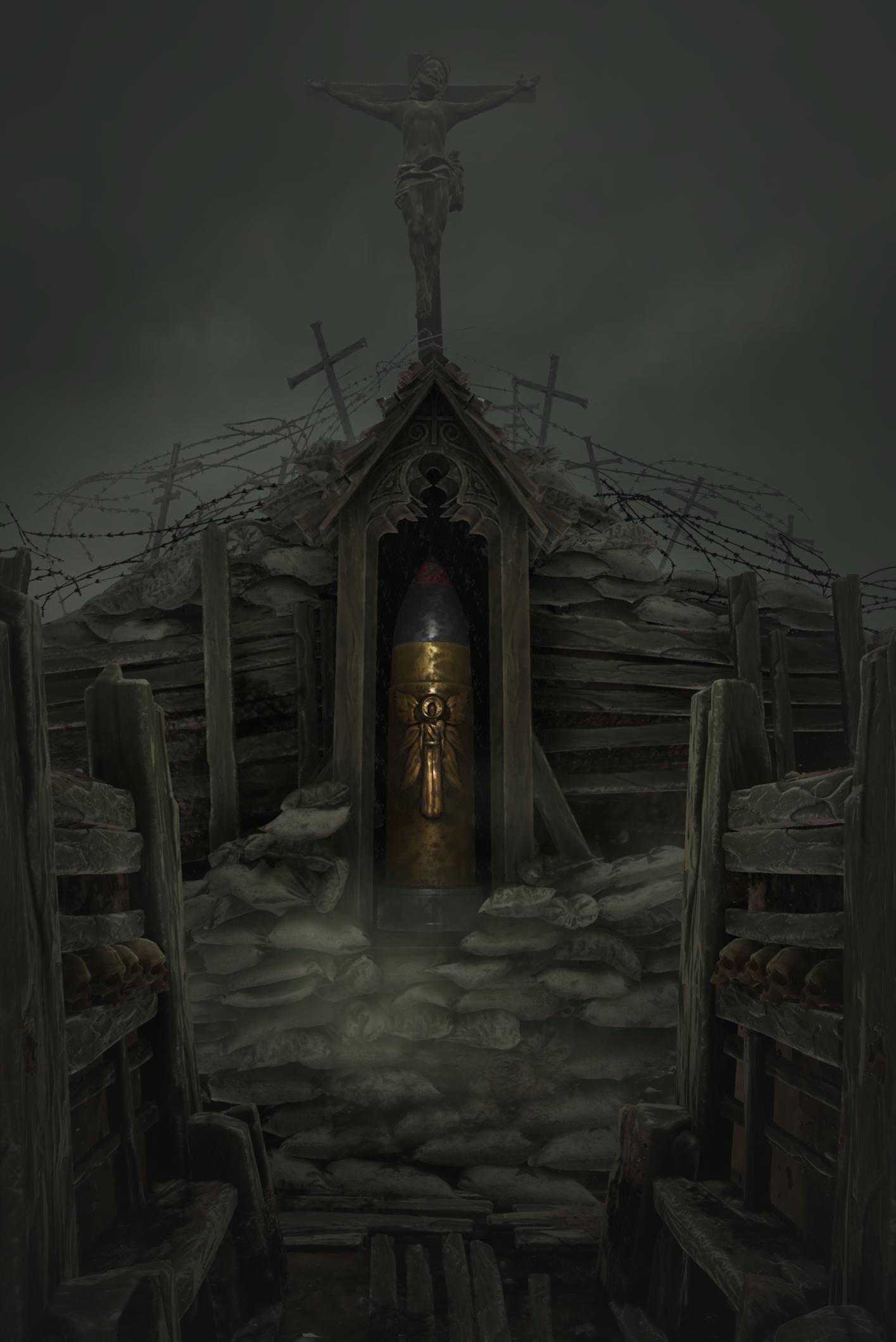 UE4] [WIP] Trench Shrine — polycount