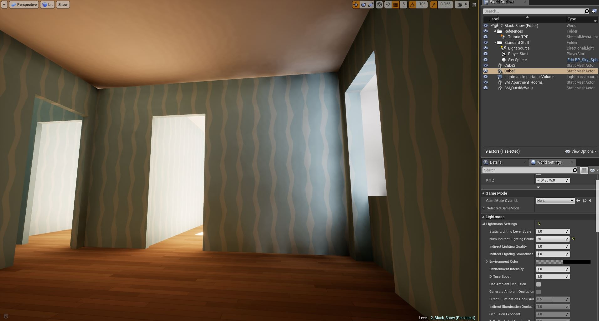 UE4 - Lightmaps] Rules and guidelines for creating rooms? — polycount