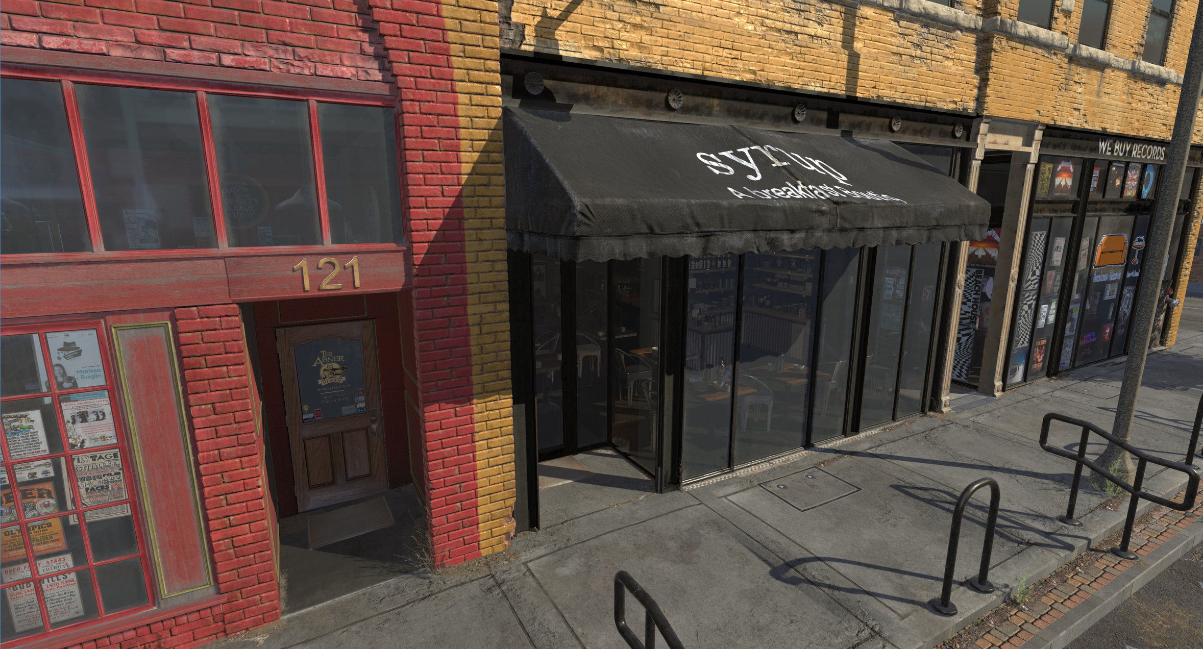 Small Main Street Environment Done In Unity HDRP  — polycount