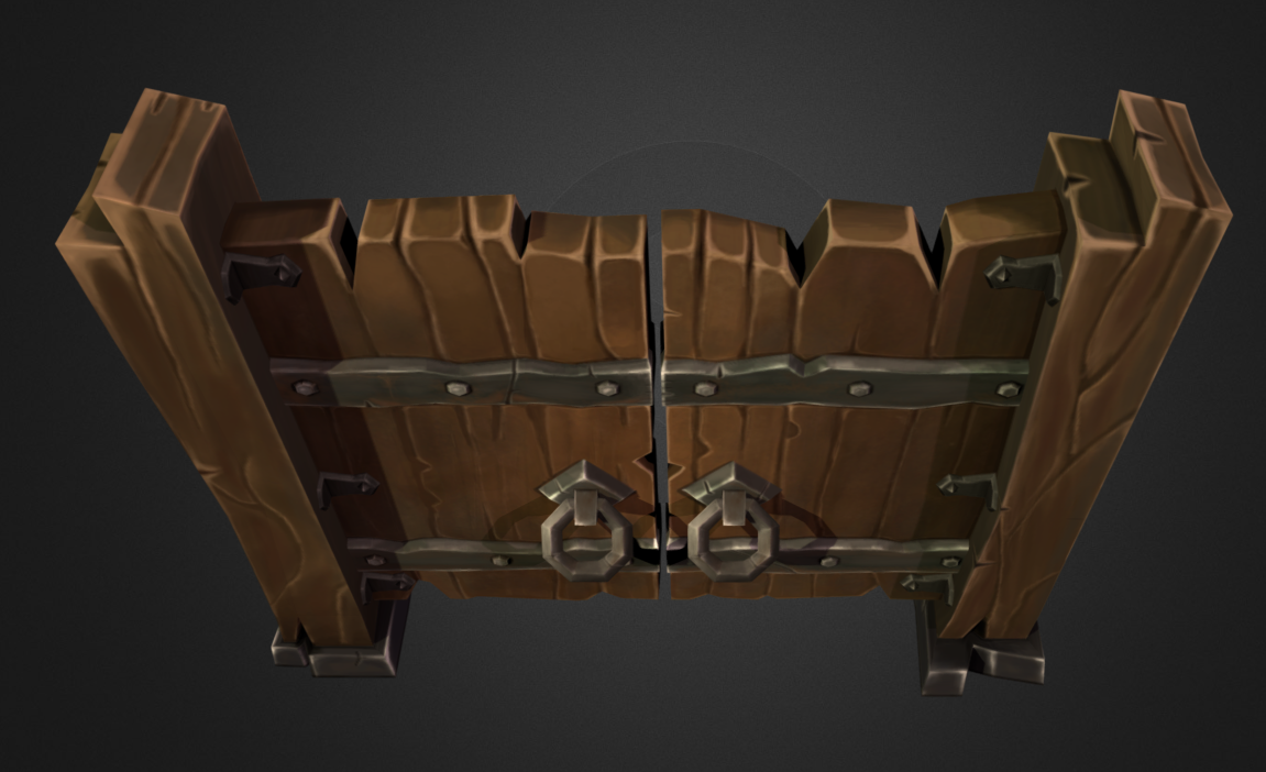 [WOOD DOOR] HAND PAINTED - modelling & texture — polycount