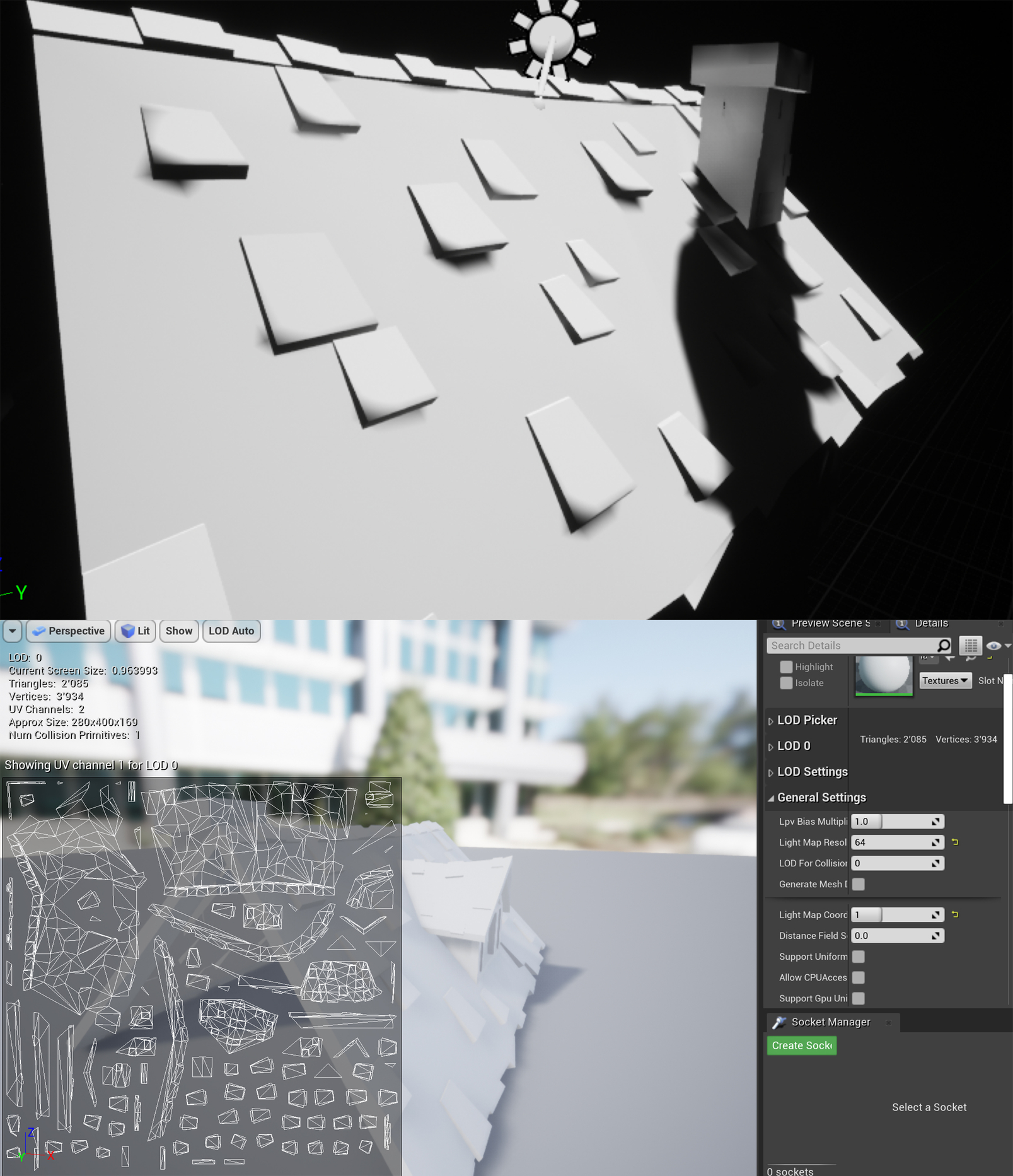 Maya To Unreal Engine 4 Shadow Issue Shadows Bleeding Through Mesh Polycount