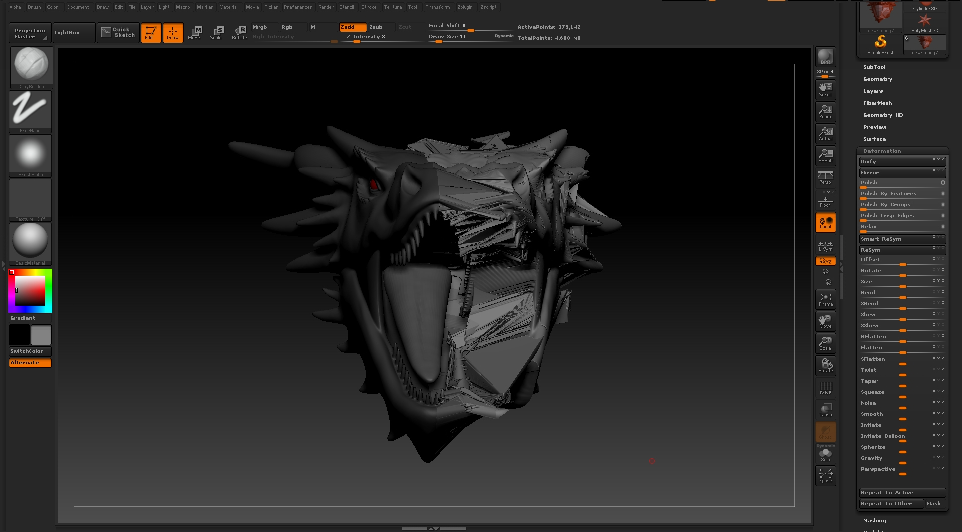 Zbrush symmetry issues polycount for Mirror zbrush