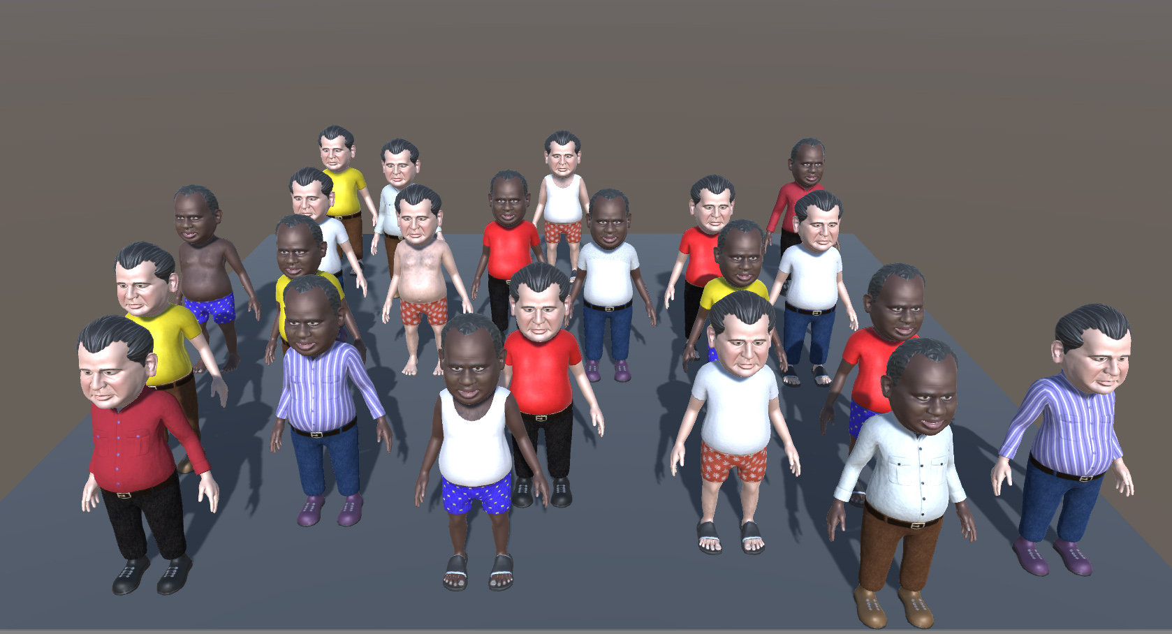 RELEASED] Regular middle aged man stylized 3D character pack — polycount