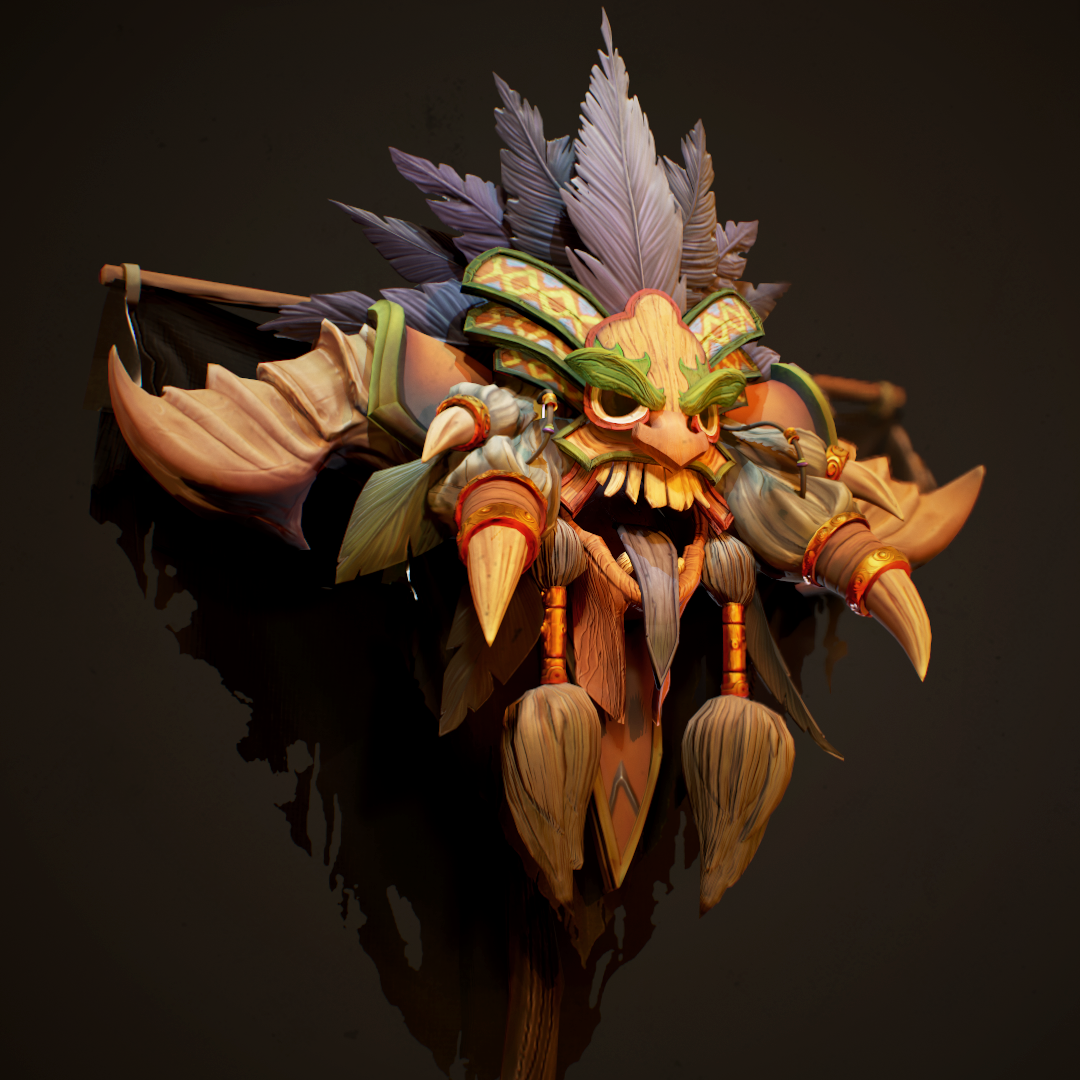 diablo game character 3d model