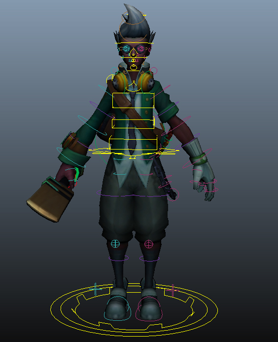 Riot Creative Contest free usable Maya Rig for the