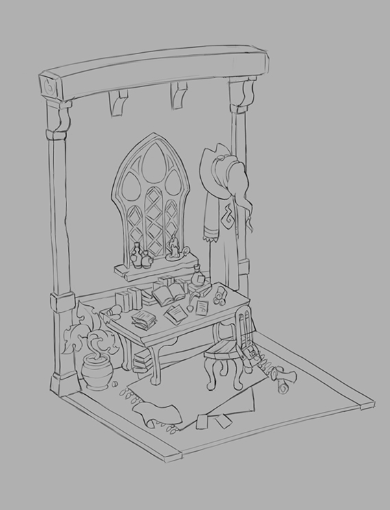 WIP] Mage Study - Potion Maker — polycount