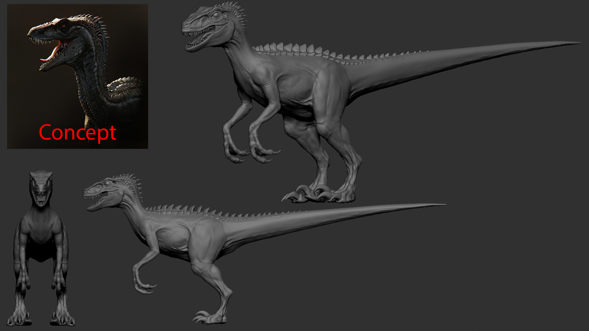 Feedback please - Student creature/dinosaur Project in