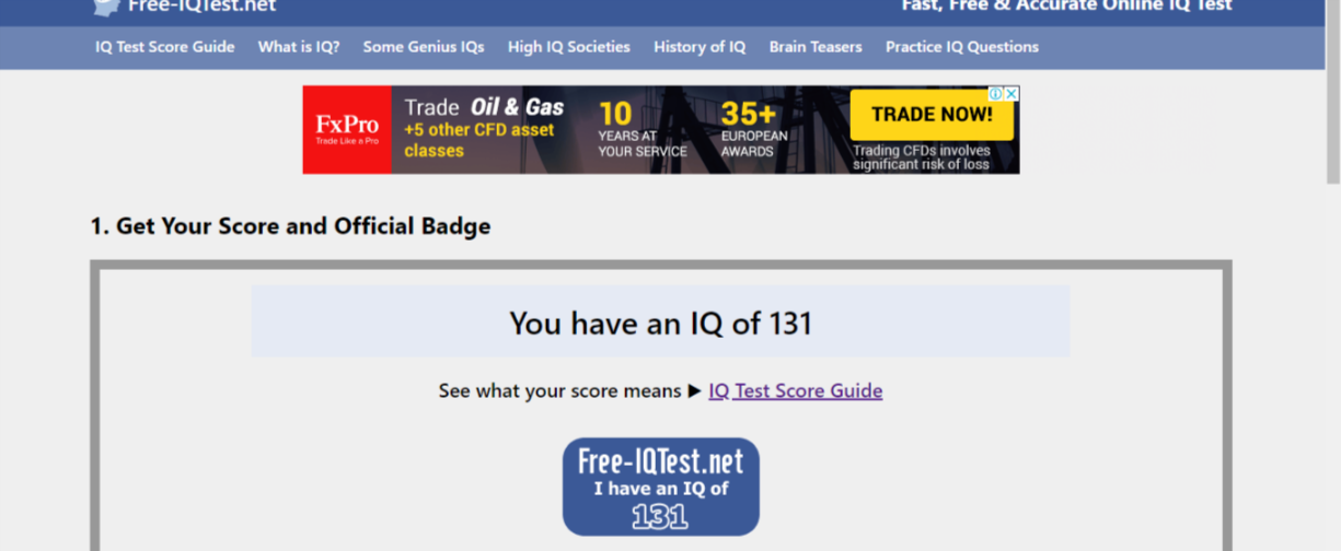 Whats your IQ score   ? — polycount