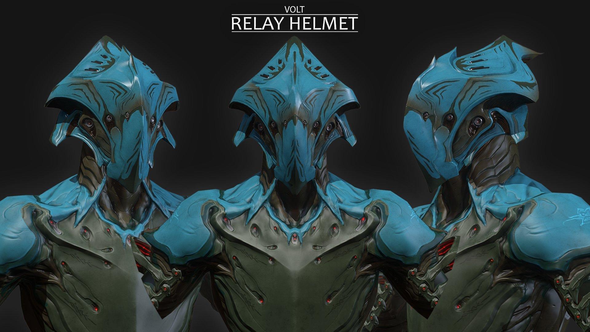 [Alt Helmet] - Volt - Relay — polycount Warframe Volt Helmet
