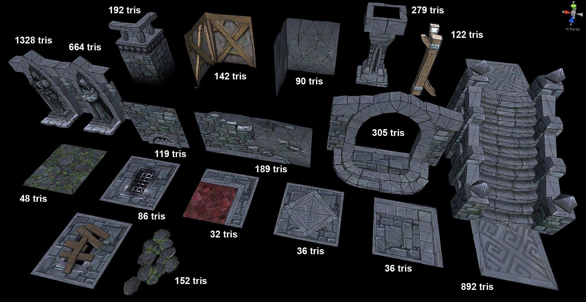 Another Modular Dungeon Tileset Polycount