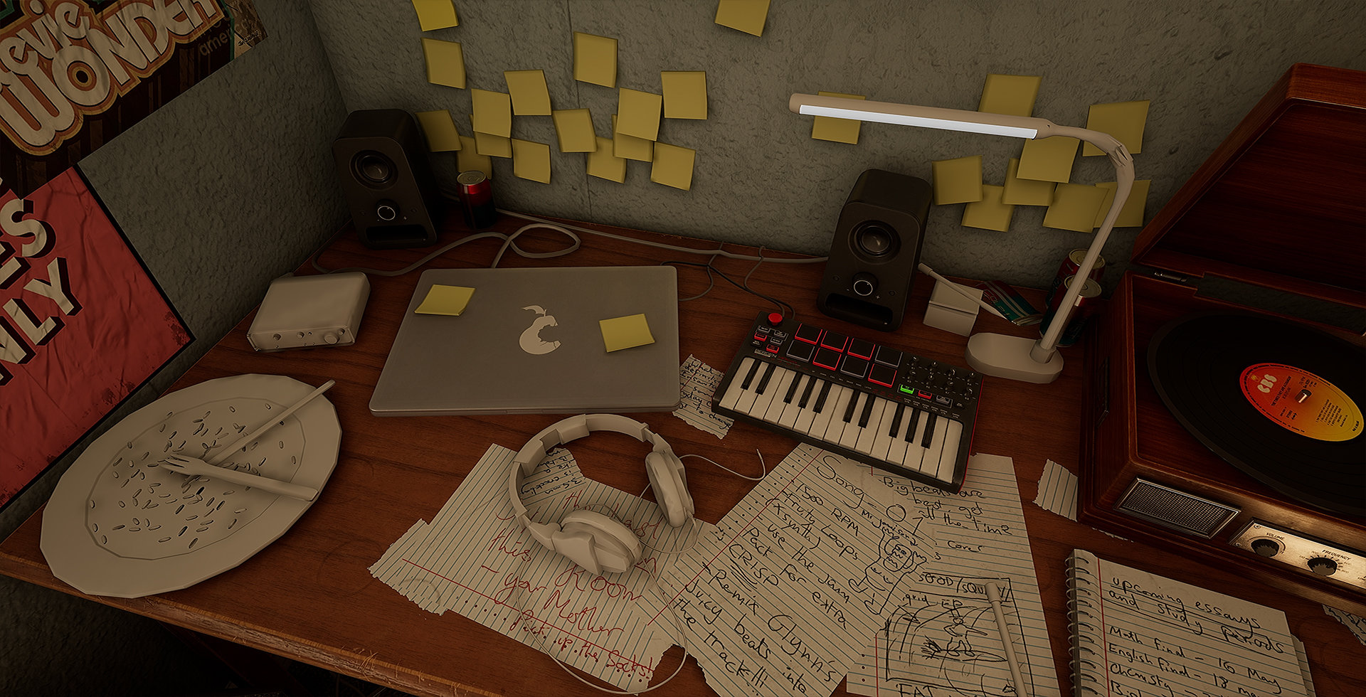 WIP] [UE4] Teenagers Bedroom — polycount