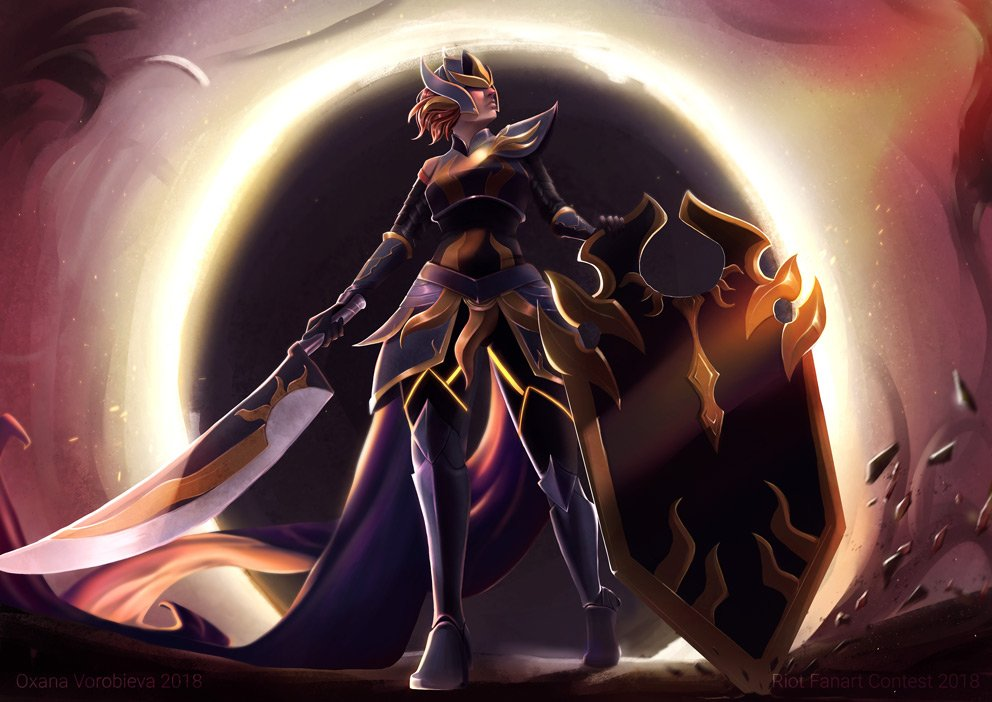 Riot 2017 Art Contest Solar Eclipse Leona Submited Polycount