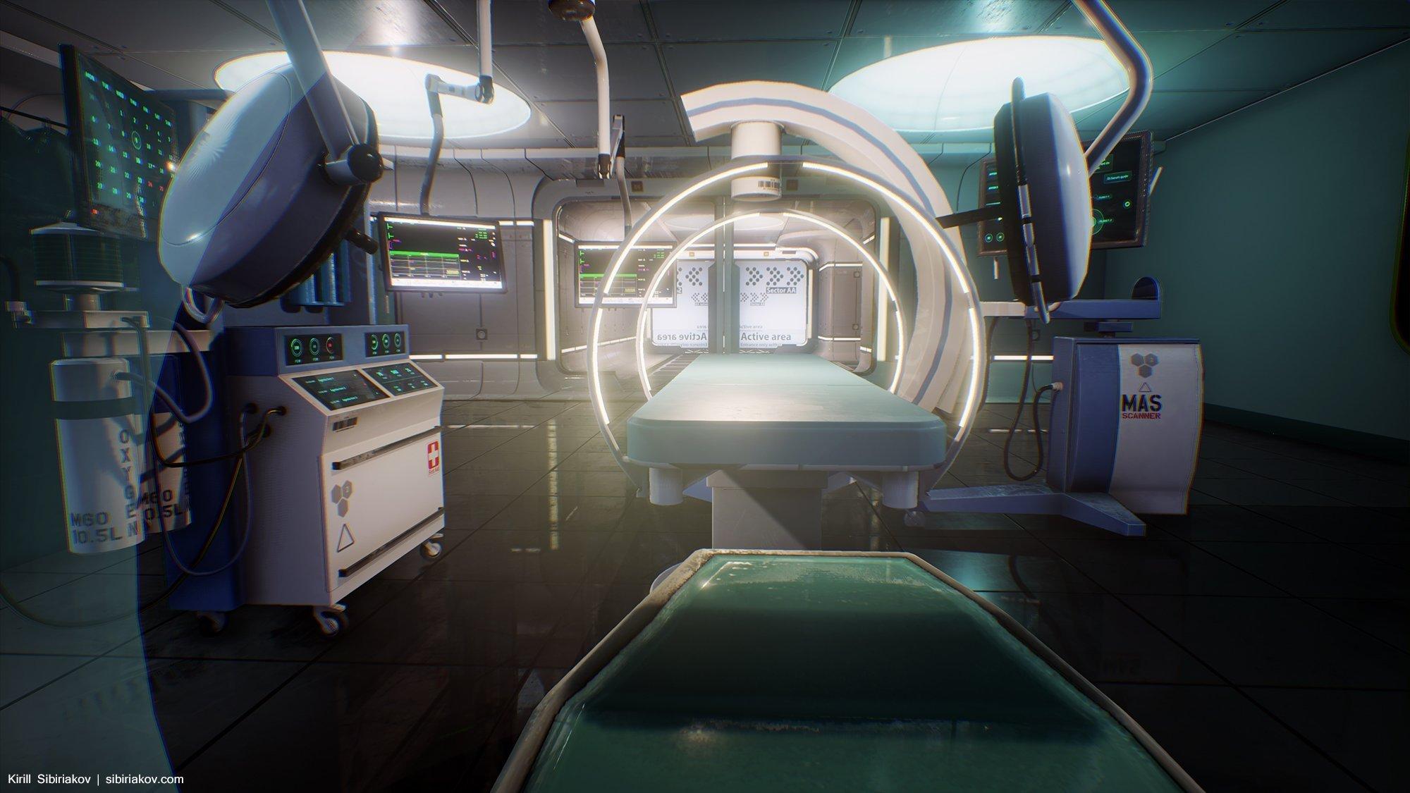Sci Fi Hospital Room : Hospital modular environment — polycount