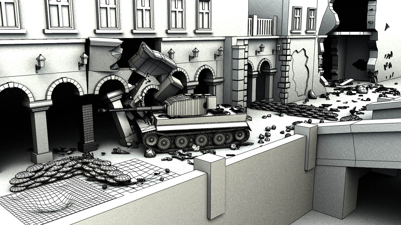 Wwii german city destroyed by a tiger tank polycount for Cities destroyed in ww2