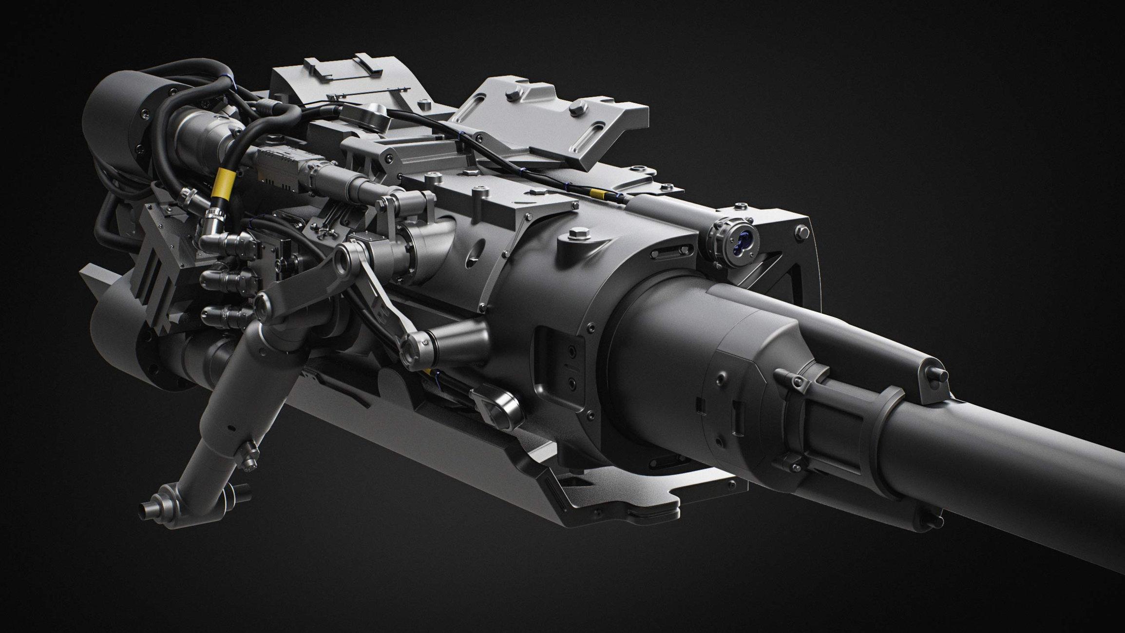 Machine gun turret — polycount
