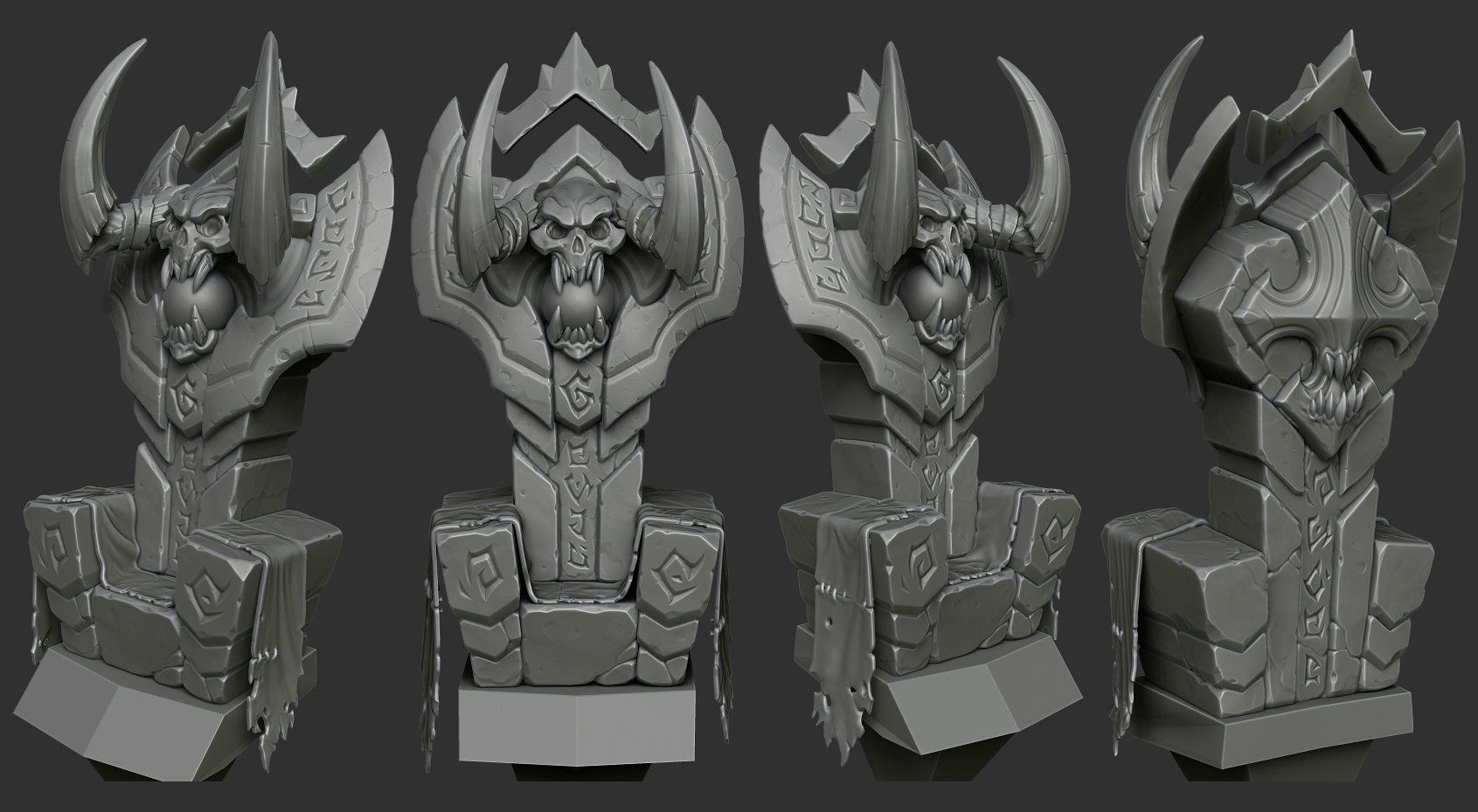 can't get my stylized stone sculpts to look the way I want