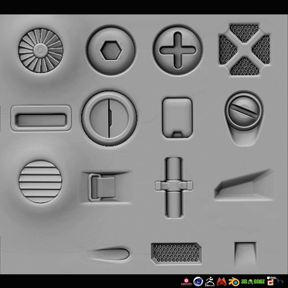 Sp Quixel Free Sci Fi Alpha Height Panels Polycount
