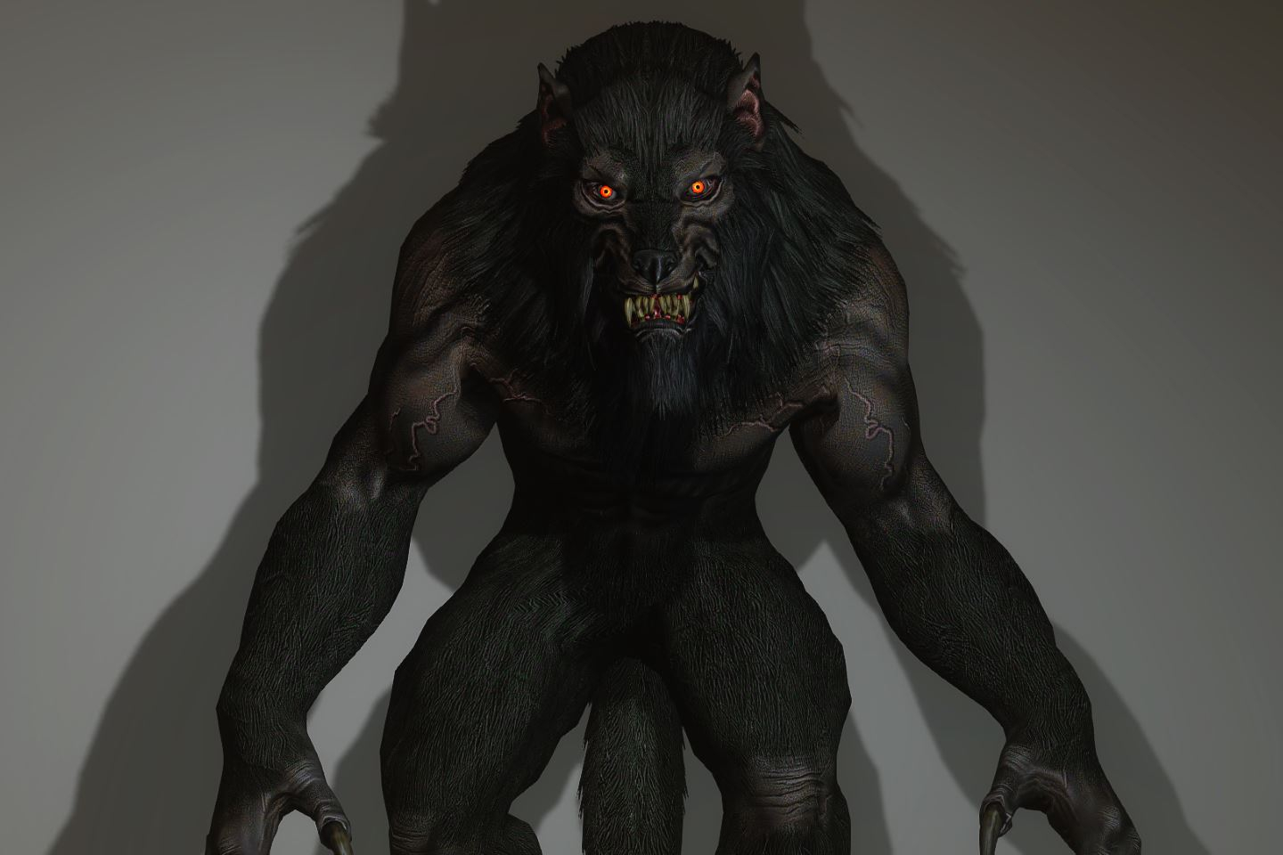VR CHAT AVATAR WEREWOLF — polycount