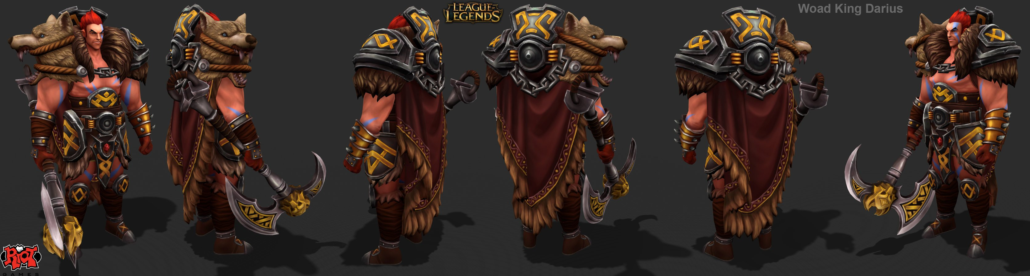 Riot Creative Contest 2017 Character Art Woad King Darius Polycount