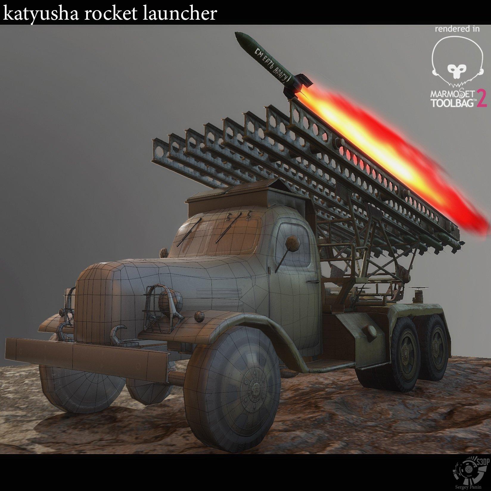 World War Rocket Launcher - katyusha (USSR) — polycount