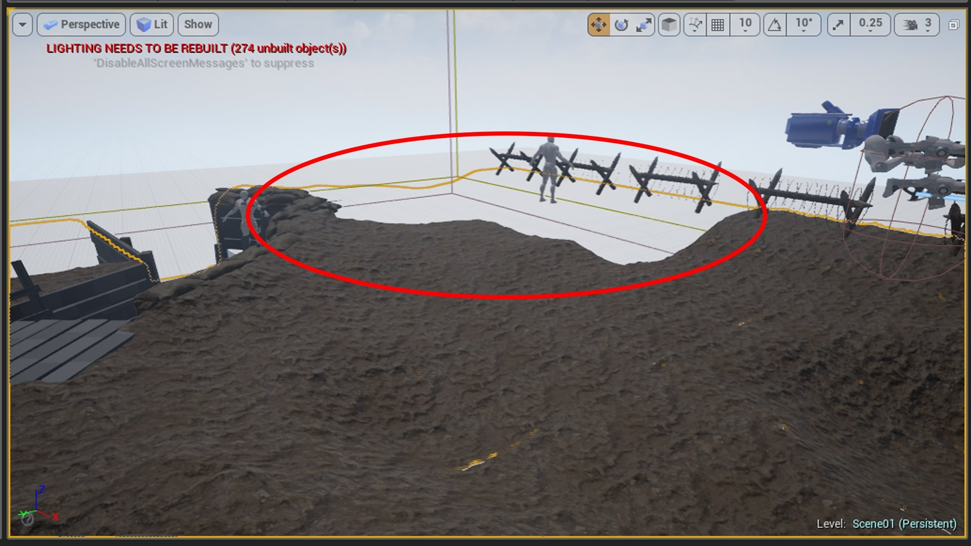 Tessellation issues within unreal 4 — polycount