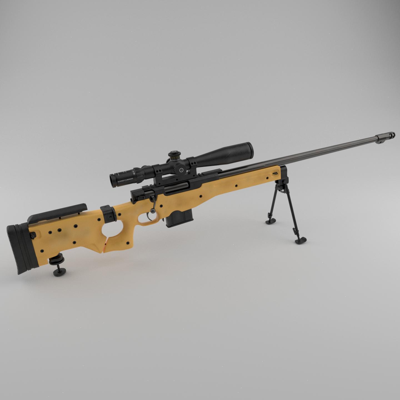 L115a3 Sniper Rifle Polycount