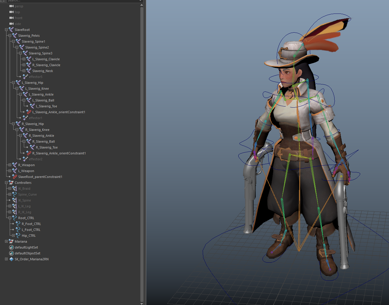 Unity Rigging, Animation feet sliding issue — polycount