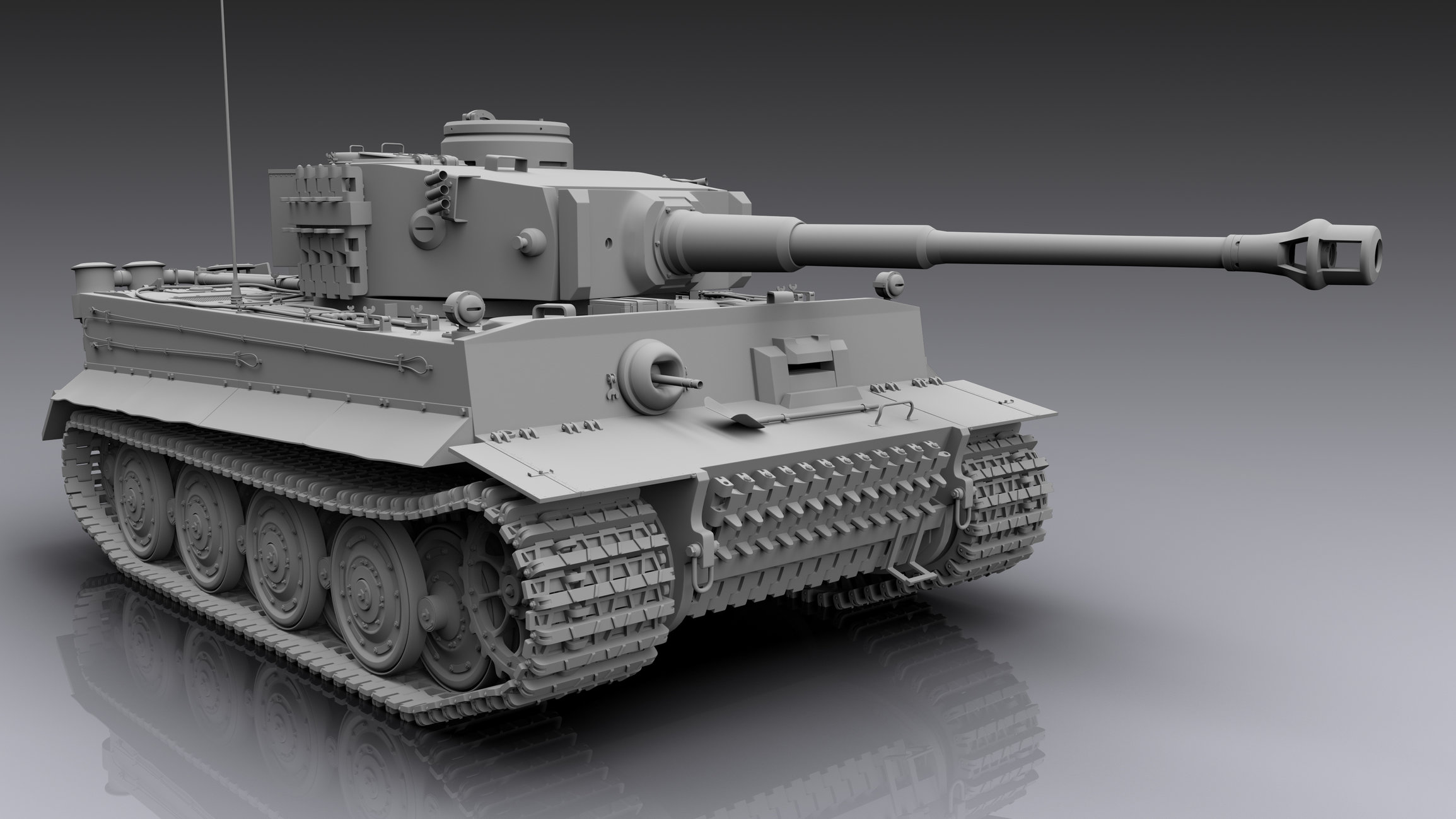 Pz Kpfw Vi Ausf H Tiger I  Sub D Modeling   U2014 Polycount