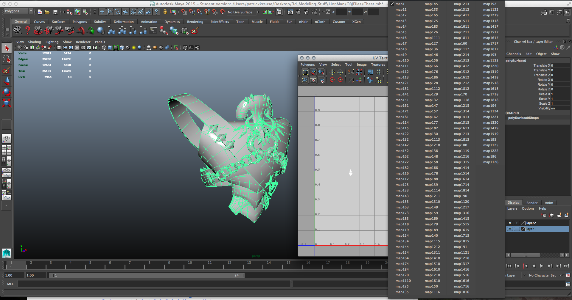 Combining UV Texture Sets in Maya — polycount