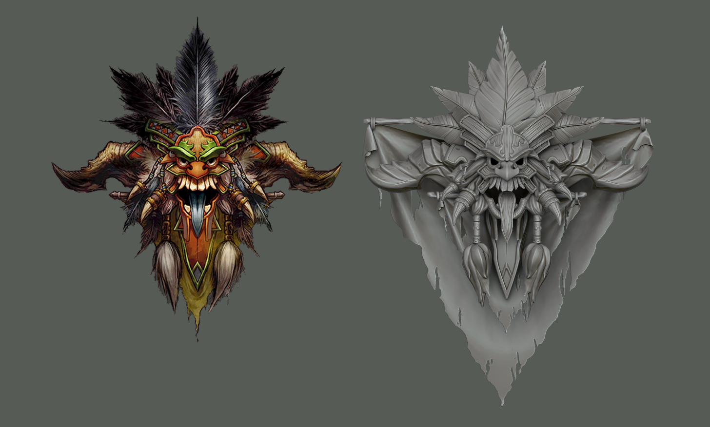 free tutorial witch doctor crest 3d zbrush maya diablo