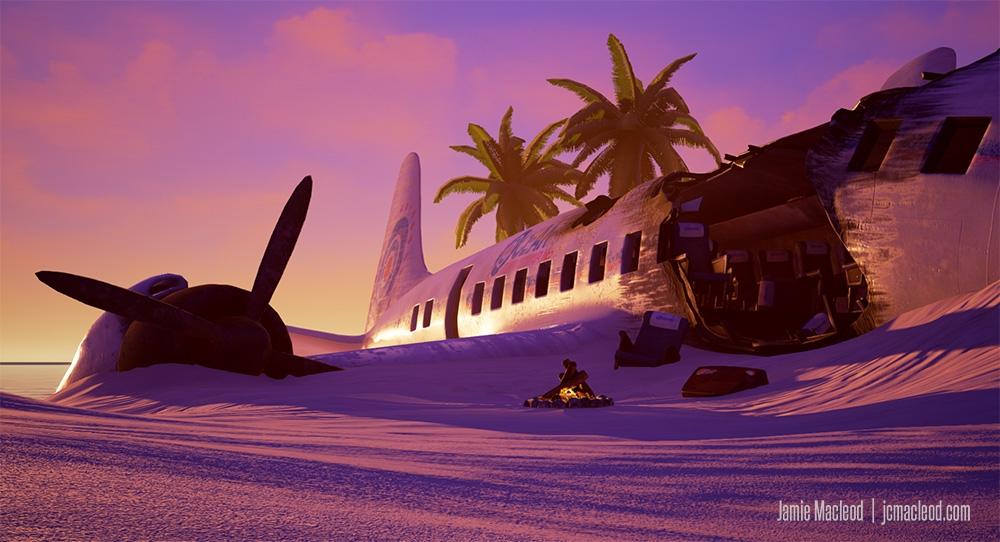 Plane Crash Concept Art