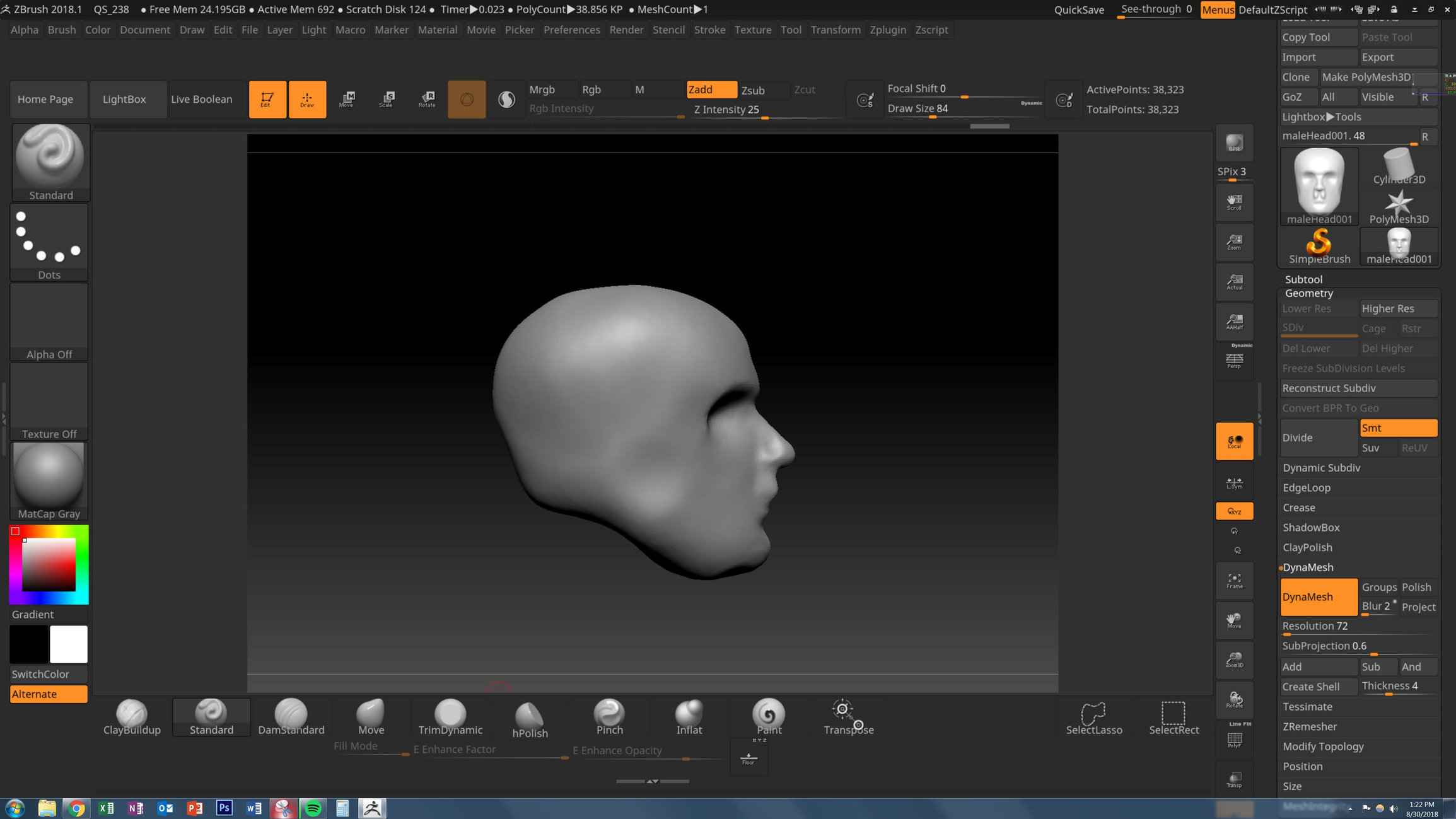 ZBrush brushes not working? — polycount