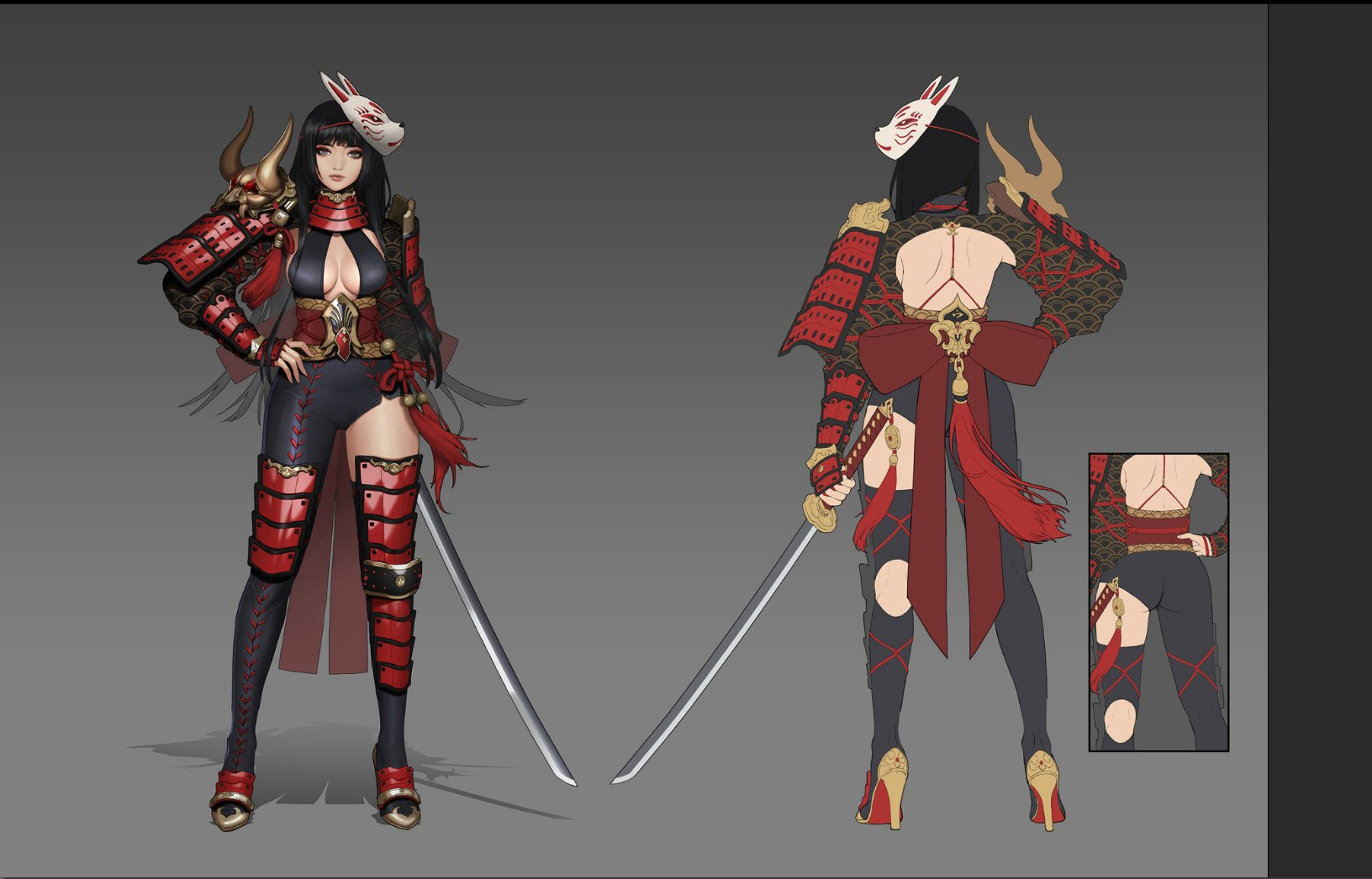 japanese style female assassin concept by muck muck
